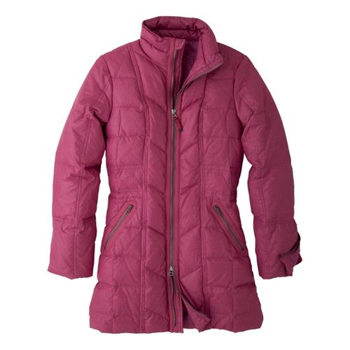 Womens Prana Devan Warm-Up Unhooded Jackets - Plum Red XL