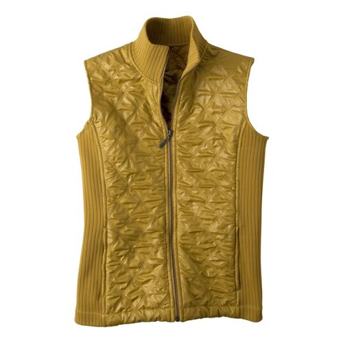 Womens Prana Diva Outerwear Vests - Agave L