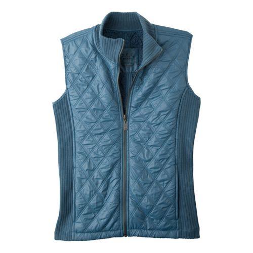 Womens Prana Diva Outerwear Vests - Aegean Blue L