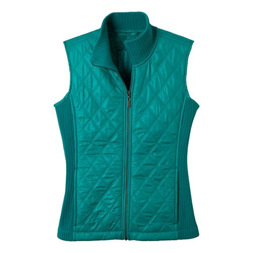 Womens Prana Diva Outerwear Vests - Dragonfly S
