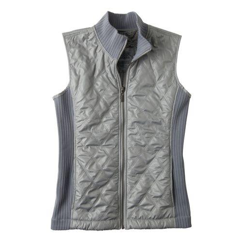 Womens Prana Diva Outerwear Vests - Platinum L