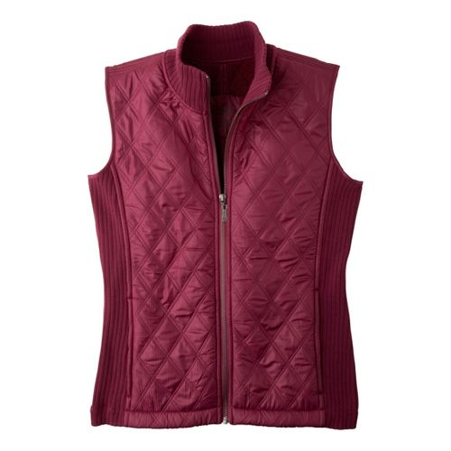 Womens Prana Diva Outerwear Vests - Plum Red L