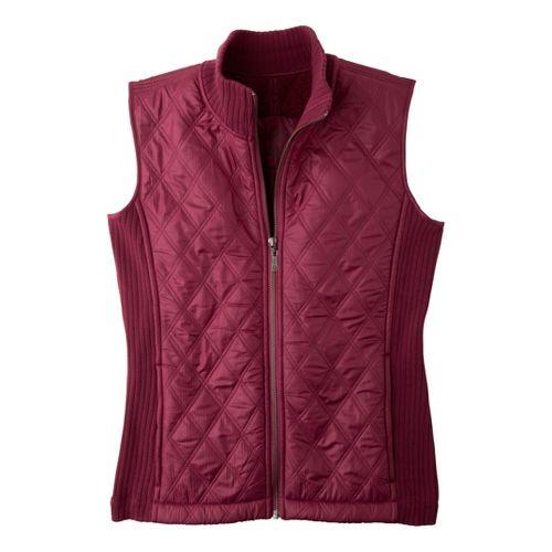 Womens Prana Diva Outerwear Vests - Plum Red M