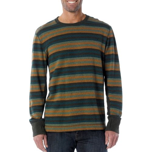 Mens Prana Driftwood Crew Long Sleeve Non-Technical Tops - Pine Needle S