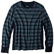 Mens prAna Driftwood Crew Long Sleeve Non-Technical Tops