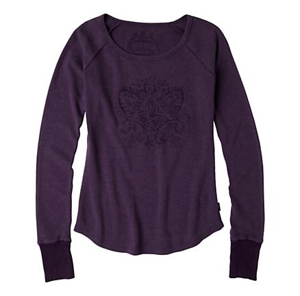 Womens Prana Jill Thermal Long Sleeve No Zip Technical Tops