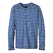 Mens prAna Keller Long Sleeve Crew Long Sleeve Technical Tops