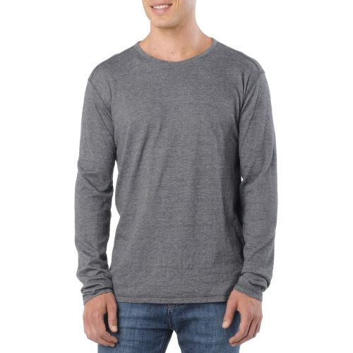 Mens Prana Keller Crew Long Sleeve No Zip Technical Tops - Grey XL