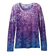 Womens Prana Lotus Tee Long Sleeve No Zip Technical Tops