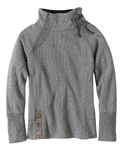 Womens prAna Lucia Sweater Long Sleeve Non-Technical Tops - Black XL