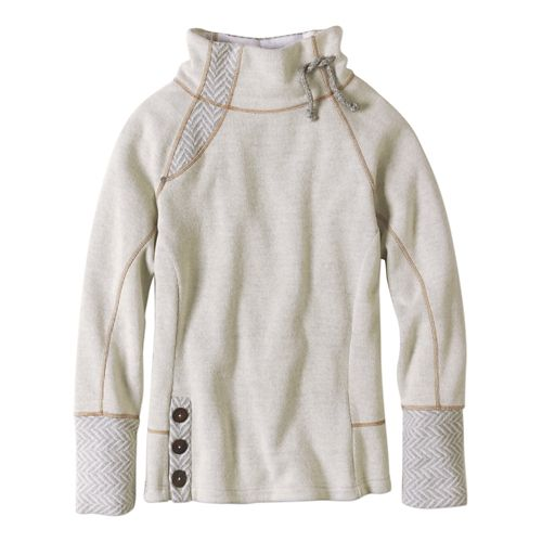 Womens prAna Lucia Sweater Long Sleeve Non-Technical Tops - Natural S