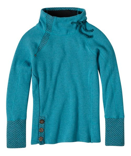 Womens prAna Lucia Sweater Long Sleeve Non-Technical Tops - Blue XL