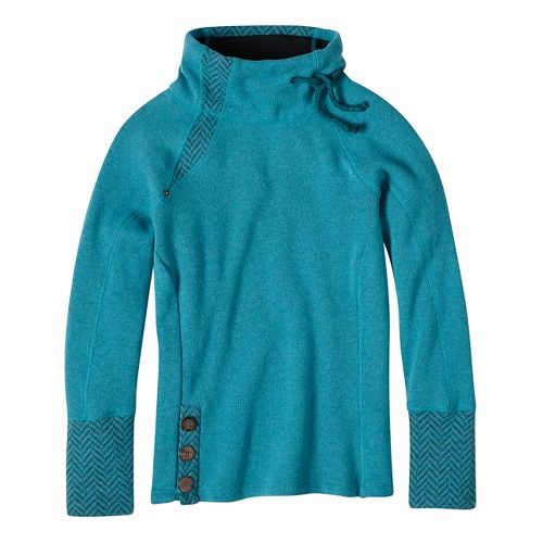 Womens prAna Lucia Sweater Long Sleeve Non-Technical Tops - Blue XL