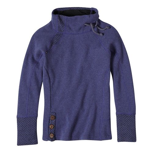 Womens prAna Lucia Sweater Long Sleeve Non-Technical Tops - Blue M