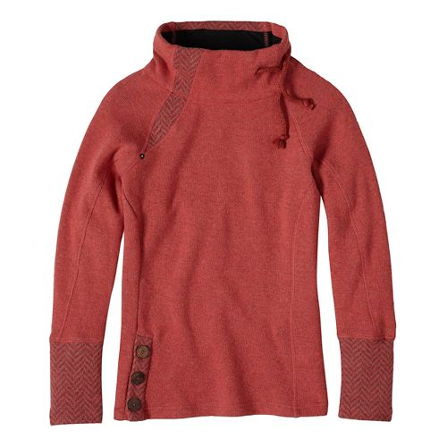 Womens prAna Lucia Sweater Long Sleeve Non-Technical Tops - Red XL