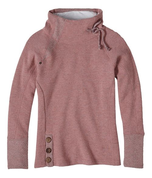 Womens prAna Lucia Sweater Long Sleeve Non-Technical Tops - Pink XL