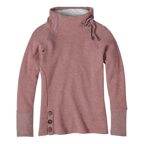Womens prAna Lucia Sweater Long Sleeve Non-Technical Tops - Pink XS