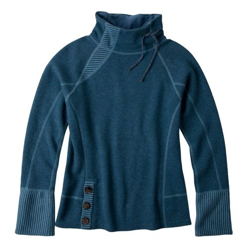 Womens Prana Lucia Sweater Long Sleeve No Zip Technical Tops - Blue Spruce L