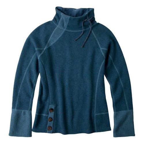 Womens Prana Lucia Sweater Long Sleeve No Zip Technical Tops - Blue Spruce XL