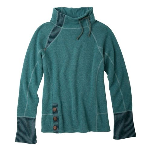 Womens Prana Lucia Sweater Long Sleeve No Zip Technical Tops - Deep Sea XL