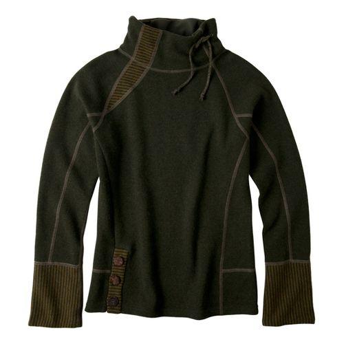 Womens Prana Lucia Sweater Long Sleeve No Zip Technical Tops - Ivy XL