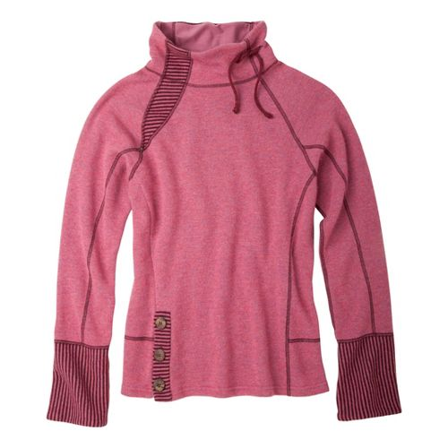 Womens Prana Lucia Sweater Long Sleeve No Zip Technical Tops - Mauvewood M