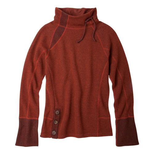 Womens Prana Lucia Sweater Long Sleeve No Zip Technical Tops - Picante L