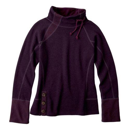 Womens Prana Lucia Sweater Long Sleeve No Zip Technical Tops - Plum XL
