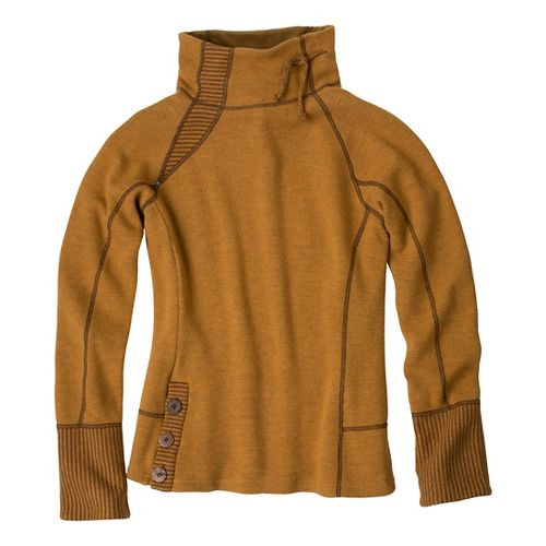 Womens Prana Lucia Sweater Long Sleeve No Zip Technical Tops - Sahara S