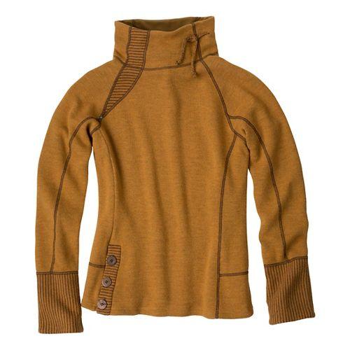 Womens Prana Lucia Sweater Long Sleeve No Zip Technical Tops - Sahara XL