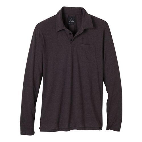Mens Prana Marco Polo Long Sleeve Non-Technical Tops - Black S
