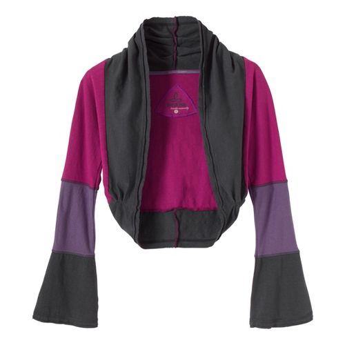 Womens Prana Neah Shrug Long Sleeve Non-Technical Tops - Plum Red L