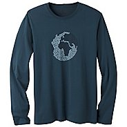 Mens Prana Organic Crew Neck Long Sleeve Non-Technical Tops