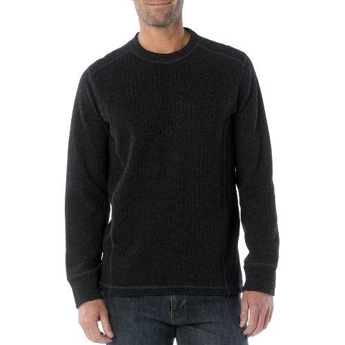 Mens Prana Owen Sweater Crew Long Sleeve Non-Technical Tops - Charcoal L