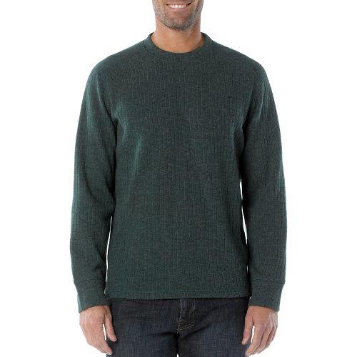 Mens Prana Owen Sweater Crew Long Sleeve Non-Technical Tops - Pine Needle M