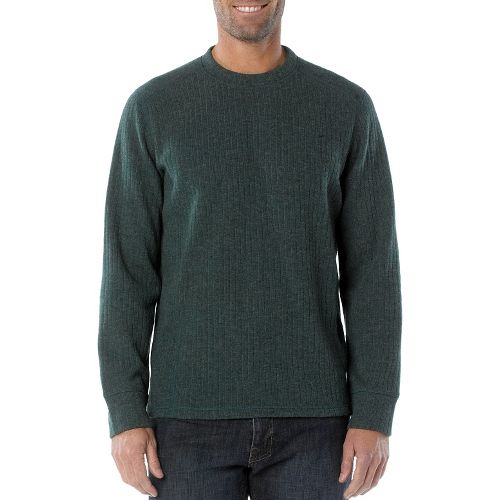 Mens Prana Owen Sweater Crew Long Sleeve Non-Technical Tops - Pine Needle XL