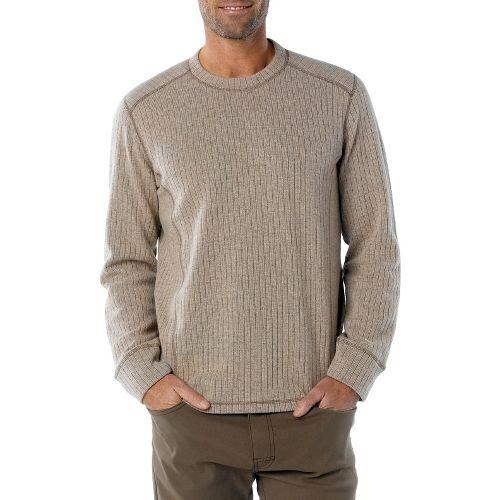 Mens Prana Owen Sweater Crew Long Sleeve Non-Technical Tops - Stone S