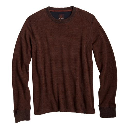 Mens Prana Owen Sweater Crew Long Sleeve Non-Technical Tops - Terracotta L