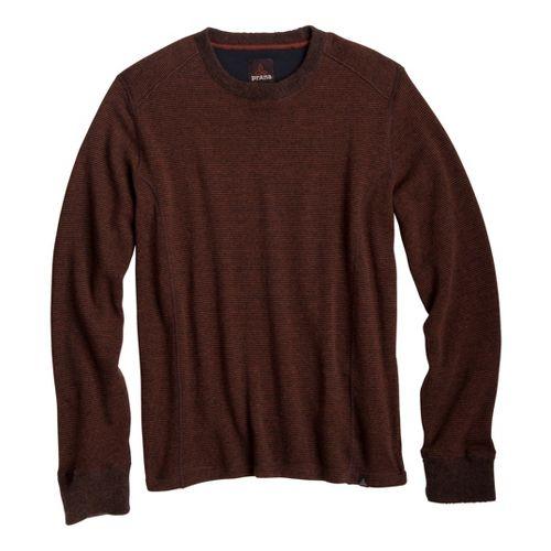 Mens Prana Owen Sweater Crew Long Sleeve Non-Technical Tops - Terracotta XXL