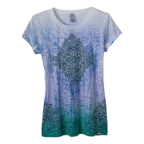 Womens Prana Rapture Sleeve Tee Short Sleeve Technical Tops - Cobalt Blue S