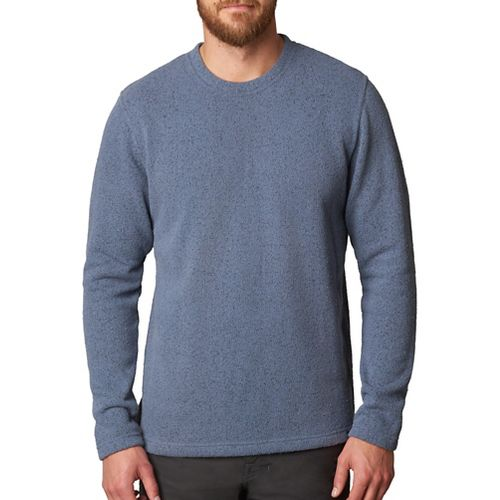 Mens prAna Sherpa Crew Long Sleeve Non-Technical Tops - Grey L