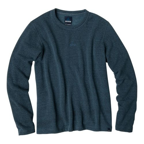 Mens Prana Sherpa Crew Long Sleeve Non-Technical Tops - Blue Yonder M