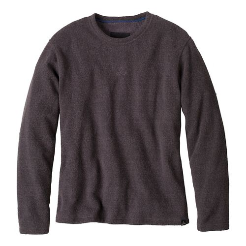 Mens Prana Sherpa Crew Long Sleeve Non-Technical Tops - Coal L