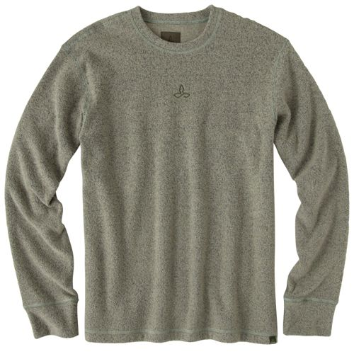 Mens Prana Sherpa Crew Long Sleeve Non-Technical Tops - Sage L