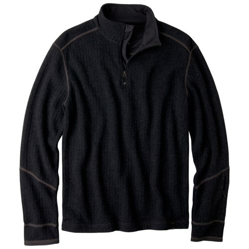 Mens Prana Trask Sweater Long Sleeve Non-Technical Tops - Charcoal XXL