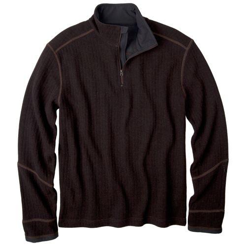Mens Prana Trask Sweater Long Sleeve Non-Technical Tops - Espresso XXL