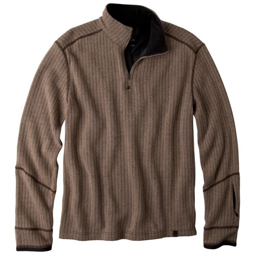 Mens Prana Trask Sweater Long Sleeve Non-Technical Tops - Oatmeal L