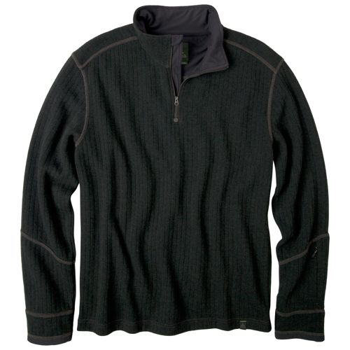 Mens Prana Trask Sweater Long Sleeve Non-Technical Tops - Olive L