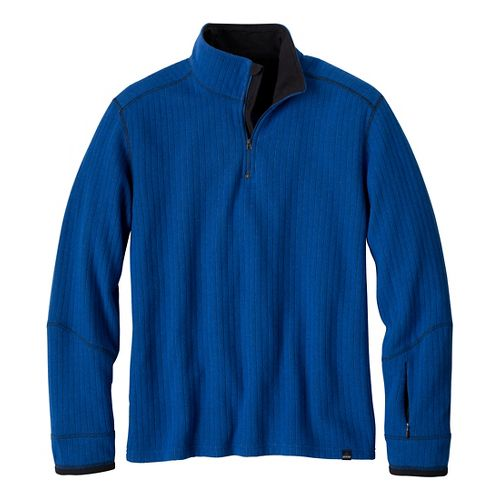 Mens Prana Trask Sweater Long Sleeve Non-Technical Tops - Pure Blue M