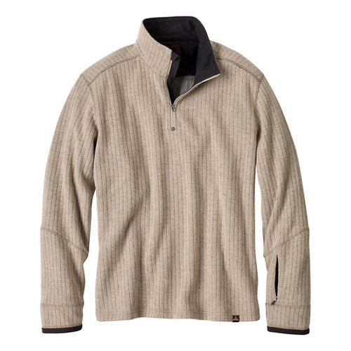 Mens Prana Trask Sweater Long Sleeve Non-Technical Tops - Stone S